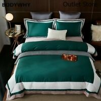 Luxury Patchwork Set 1000TC Egyptian Cotton Duvet Cover  Bedding Set Sheet 4Pcs