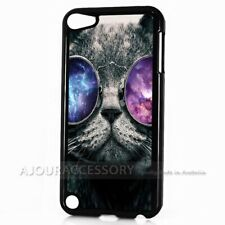 ( For iPod Touch 6 ) Back Case Cover AJ10774 Cat with Glass