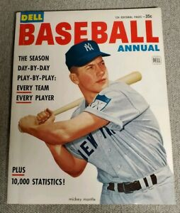 ISSUE 1 1953 Dell Baseball Annual Complete & Original Mantle on Cover MINT