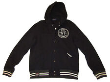 Polo Ralph Lauren Brooklyn Basketball Varsity Patch Black Fleece Coat Jacket L
