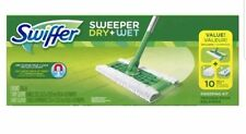 Swiffer Sweeper Cleaner Dry and Wet Mop Starter Kit for Cleaning Hardwood...
