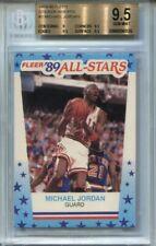 1989 Fleer Basketball Sticker 3 Michael Jordan BGS 9.5 Pop32 Regrade Psa 10 ?