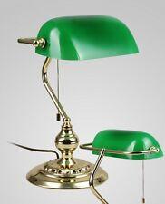 Lampada da scrivania La lampada da banchiere Ottone Paralume verde Lume NEW 26
