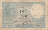 Paper Money - France - 10 Francs - (28-9-1939) - P-84 - VG
