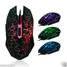Professional 4000DPI Wired Gaming Mouse Ergonomic Optical USB Mice Backlight Lot