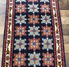 "2'2""x7' Authentic Bidjar Senneh Blue Fine handmade wool Oriental area rug runner"