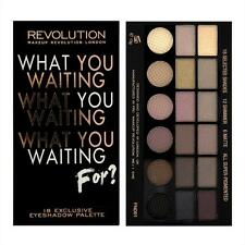 MAKEUP REVOLUTION WHAT YOU WAITING FOR?~18 COLOUR EYESHADOW PALETTE NAKED NUDE
