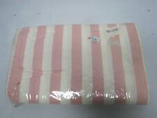 VINTAGE PINK & WHITE TWIN FITTED SHEET ~ MINT NEVER USED
