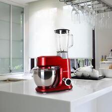 Set: Küchenmaschine Rührmaschine Knetmaschine Standmixer Teigkneter Rot 800W Neu