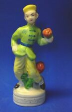 Japanese Man Flower Seller Figurine With  6 x 2-1/2 Inches Made in Japan