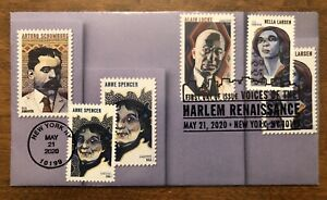 2020 Voices Of The Harlem Renaissance FDC Hand Crafted Cachet Spencer Larsen