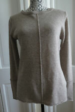 Pretty Philosophy Beige Heather Cashmere Pullover Sweater Large NWT $248