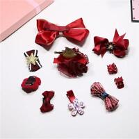 1Set Baby Girl Hair Clip Bow Flower Barrette Party Kids Hairpins Headwear BB