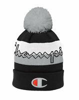 Champion Life Script Knit Pom Beanie Hat Soft Warm Cap Logo Winter Snow Ski
