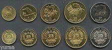 Mozambique - Set 5 Coins 1994 UNC 1, 5, 10, 20, 50 Meticais
