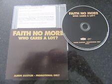 "FAITH NO MORE ""WHO CARES A LOT"" PROMO SAMPLER CD"