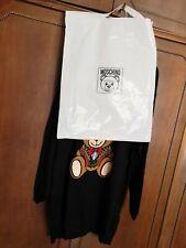 Moschino dress taglia L abito in maglia 100% cotone nero