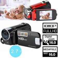 "2.7"" 1080P 16MP 16X ZOOM Kids Digital Camera DV Video Camcorder Recorder- Black"