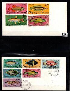 // BURUNDI 1967 - 2 FDC - FISH