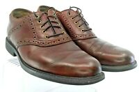 Johnston Murphy Cardell Oxford Men's 9.5 M Brown Leather Waterproof Saddle Shoes
