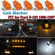 5X Running Roof Top Cab Clearance Lights Amber+194 Leds For Ford F150 F250 F350