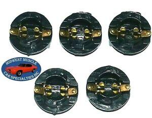 "GM Dash 1/2"" Twist Instrument Gauge Cluster Idiot Light Bulb Lamp Socket 5pcs B"