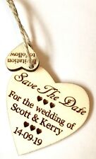 Rustic Wooded Heart Save The Date Wedding Anniversary Party