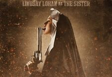 "MACHETE Movie Silk Fabric Poster 11""x17""  Sexy Hot Nun LINDSAY LOHAN Grindhouse"