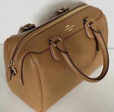 New Coach 32202 Mini Bennett Satchel Crossgrain Leather handbag Light Saddle
