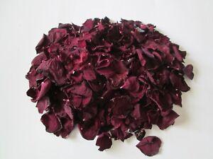 Natural Sun Dried RED Rose Petals - 6 Cups BEAUTIFUL!