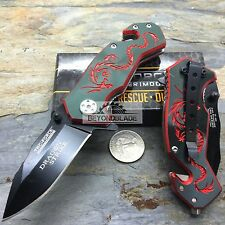 "3.5"" TAC-FORCE Dragon Red Small Outdoor Hunting Rescue Pocket Knife"