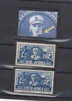South Africa 1941 3d Cigarette Flaw/Error SG91a MH J9938