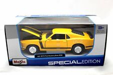 Maisto 1970 Ford Mustang Boss 302 Yellow 1/24 Diecast car 31943