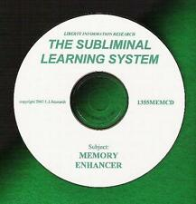 Improve your MEMORY! Forgetful? Studying? Testing? SUBLIMINAL LEARNING SYSTEM