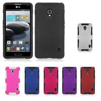LG Optimus F6 D500 Metro T-Mobile Hybrid Mesh Case Skin Cover