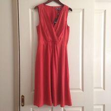 Basque Myer Brand Dress, Size 10, Burnt Orange/ Rust Red, Brand New! RRP$169