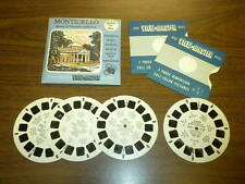 MONTICELLO HOME OF THOMAS JEFFERSON VA(185ABC,SP9032) Viewmaster 4 reels PACKET