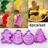 Gingerbread Man Biscuit Fondant Cookie Cutter Christmas Cake Mold Baking Mould