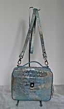 Brahmin Evie Serendipity Croco Embos Leather Crossbody Hand Bag