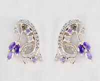 delicate Multi CZ 925 Sterling Silver Multi Earring Natural wholesale US gift