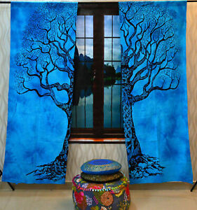 Wall Hanging Drape Valance Door Window Curtain Indian Wonderful Design Cotton