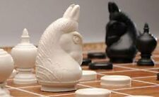 Thai Chess (Makruk) Plastic with Traditional White and Black (1 Box)
