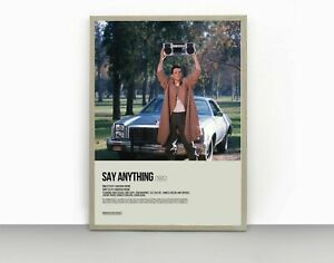 Say Anything Poster, Movie Poster, Home Decor, Wall Art Decor Poster
