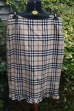 Burberry Nova Check Long Skirt lined, frilled bottom size 14