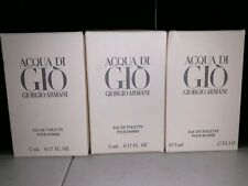 Acqua Di Gio Giorgio Armani Eau De Toilette Mini Splash 5ml 0.17 Fl Oz France (L