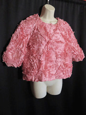 Samuel Dong Artsy Layered Tiered Pink Blouse Size M Top Jacket