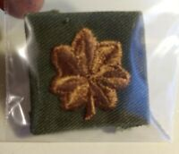 Vintage Collectible WWll Army Major Patch Badge Historical Memoribilla Used
