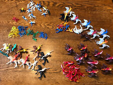 Large Lot of Vintage Plastic Toy Cowboys and Indians and Horses!