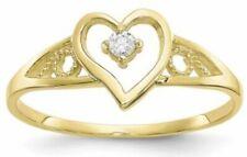 10k Yellow Gold CZ Heart Ring
