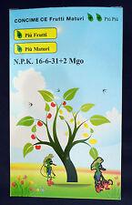 Concime fogliare radicale maturazione orto giardino 16-6-31 kg 2,5 acquaverde